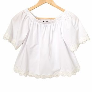 Atmosphere White Off the Shoulder Top